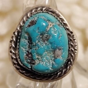 Traditional Navajo Handmade Turquoise Silver Ring
